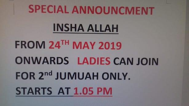 Ladies jummah time